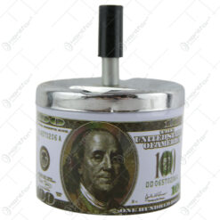 Scrumiera antivant din metal100 dollar 9 CM