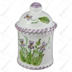 Recipient condimente din ceramica pictata manual 15 CM - Violete