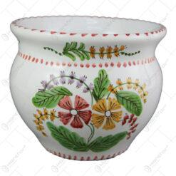 Ghiveci din ceramica pictata manual 15 CM - Flori de camp