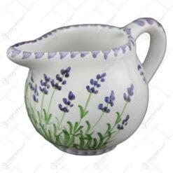Cana pentru lapte din ceramica pictata manual 10 CM - Lavanda