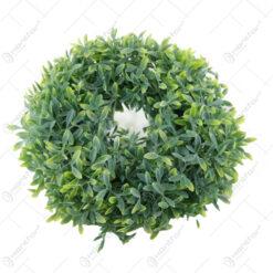 Coroana decorativa cu frunze artificiale 28 CM