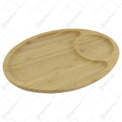 Platou din bambus cu doua compartimente 28x19 CM