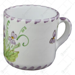 Cana cafea din ceramica pictata manual 7 CM - Violete