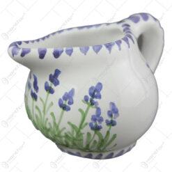Cana pentru lapte din ceramica pictata manual 8 CM - Lavanda