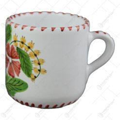 Cana cafea din ceramica pictata manual 7 CM - Flori de camp