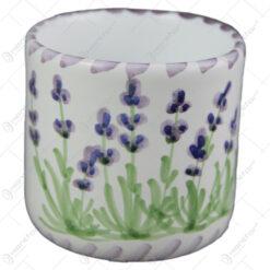 Cana cafea din ceramica pictata manual 7 CM - Lavanda