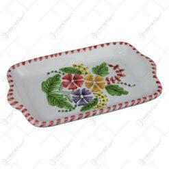 Platou din ceramica pictata manual 17 CM - Flori de camp