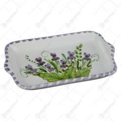 Platou din ceramica pictata manual 17 CM - Violete