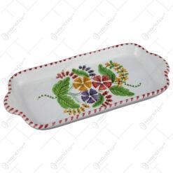 Platou din ceramica pictata manual 27 CM - Flori de camp