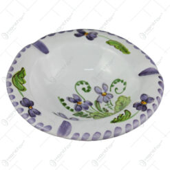 Scrumiera din ceramica pictata manual 14 CM - Violete