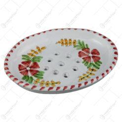 Sapuniera din ceramica pictata manual 14 CM - Flori de camp