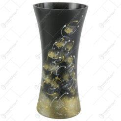 Vaza din sticla 25 CM - Vulcan Negru