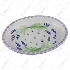 Sapuniera din ceramica pictata manual 14 CM - Lavanda
