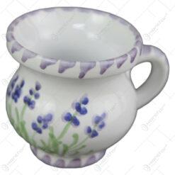 Cana tuica din ceramica pictata manual 6 CM - Lavanda
