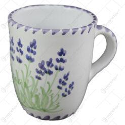 Cana ceai din ceramica pictata manual 10 CM - Lavanda