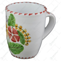 Cana ceai din ceramica pictata manual 10 CM - Flori de camp