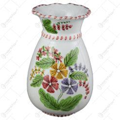 Vaza din ceramica pictata manual 20 CM - Flori de camp