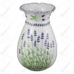Vaza din ceramica pictata manual 20 CM - Lavanda