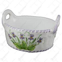 Cosulet/Bol din ceramica pictata manual 17 CM - Violete