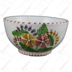 Bol din ceramica pictata manual 15 CM - Flori de camp