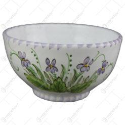 Bol din ceramica pictata manual 15 CM - Violete