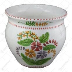 Ghiveci din ceramica pictata manual 20 CM - Flori de camp