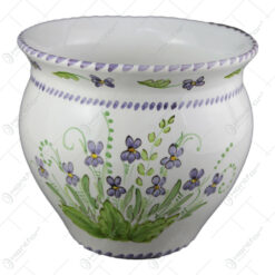 Ghiveci din ceramica pictata manual 20 CM - Violete