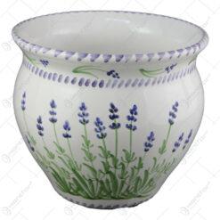 Ghiveci din ceramica pictata manual 20 CM - Lavanda