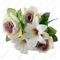 Buchet artificial Crin cu Trandafir 43 CM