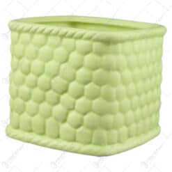 Ghiveci din ceramica Roz/Verde 9x8 CM