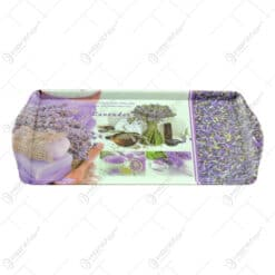 Tava cu manere realizata din material plastic - Lavanda Casuta - Mare (38x16 CM)