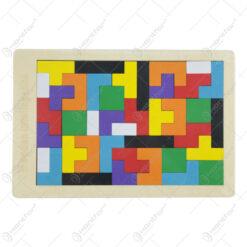 Puzzle din lemn Tetris Intelligence 27x18 CM