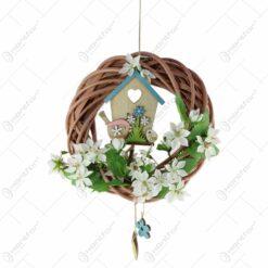 Decoratiune pentru usa decorat cu casuta de pasari 25 CM