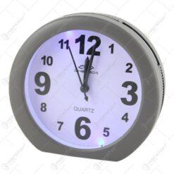 Ceas desteptator cu led din plastic 14x13 CM