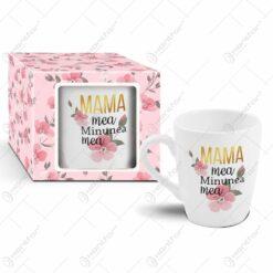 """Cana ceramica 300 ml in cutie decorativa """"Mama mea"""