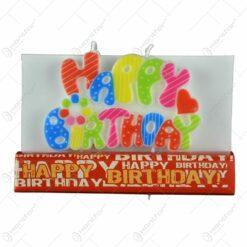 Lumanare pentru zi de nastere - Happy Birthday