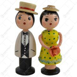 Figurina cu magnet realizata din lemn - Barbat-Femeie - Diverse modele
