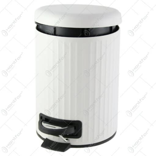Cos de gunoi cu pedal din metal si plastic 17x25 CM