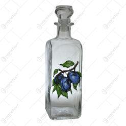 Sticla pentru bauturi cu dop Quadra 0.5 L - Prune
