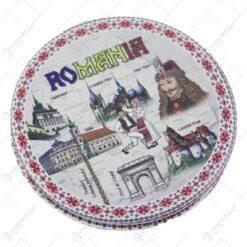 Oglinda dubla Souvenir Romania 7 CM