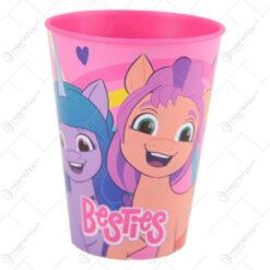 Pahar din plastic Pony besties 260 ml