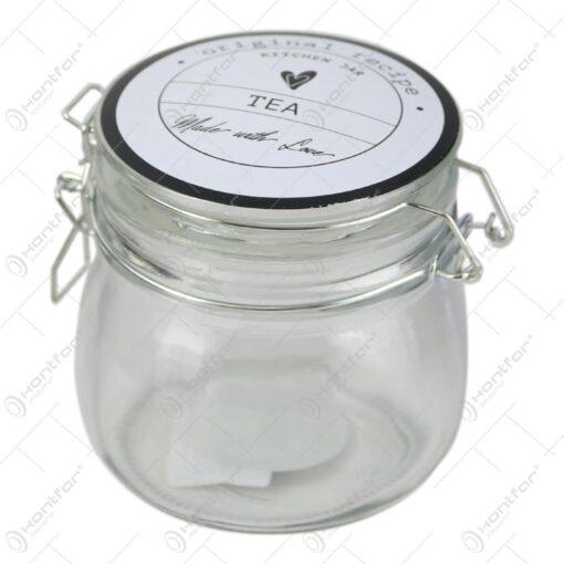 Recipient condimente cu capac din sticla