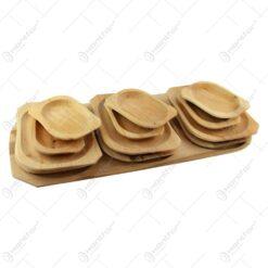 Set platouri servire din lemn de arin 12+1 - 66x29 CM