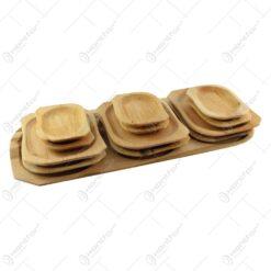 Set platouri servire din lemn de arin 12+1 - 60x23 CM
