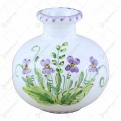 Vaza mica din ceramica pictata manual 10 CM - Violete