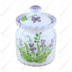 Zaharnita din ceramica pictata manual 12 CM - Violete
