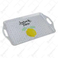 Tava din melamin cu maner 38x23 CM - Lemon Summer