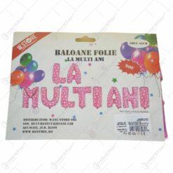 "Baloane tip folie in forma litere - ""La multi ani"" - Diverse culori"