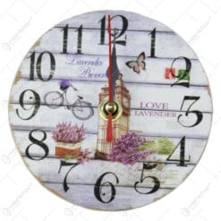 Ceas din lemn 12 CM - Love Lavender