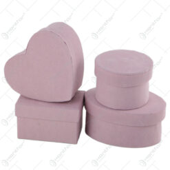 Set 4 cutii cadou mini Flock Pink